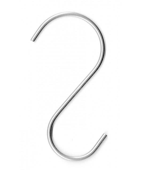 Stainless steel Wide S Shaped Pot Rack Hooks (set of 4)