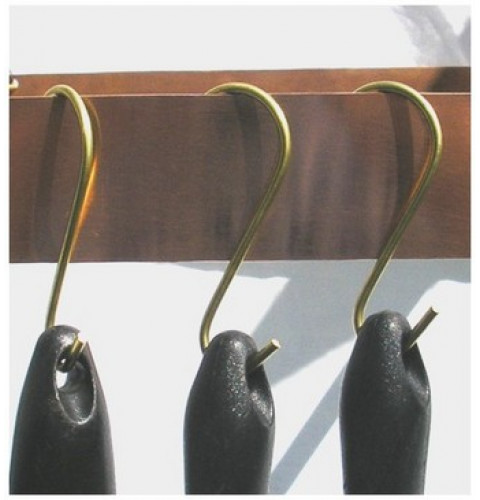Brass Utensil Pot Rack Hooks (set of 4)