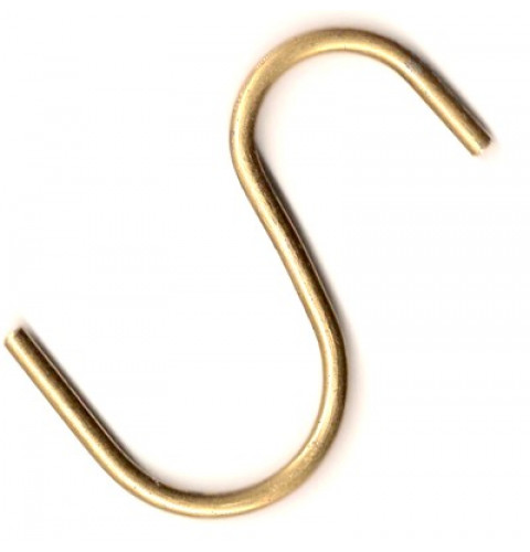 Brass MAX Pot Rack Hooks - Heavy duty (set of 4)