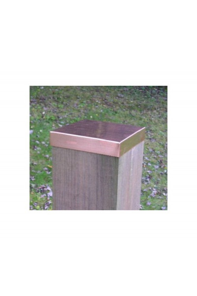 (7-5/8) Nominal 8x8 Copper FLAT Fence post cap