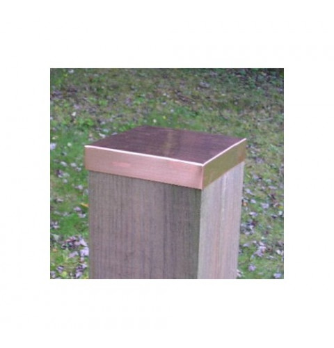 (4-1/8 x 6-1/8) Full 4x6 Copper FLAT Fence post ca...