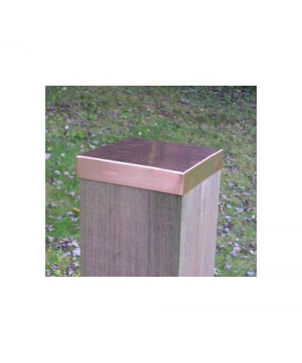 (4-1/8 x 6-1/8) Full 4x6 Copper FLAT Fence post cap