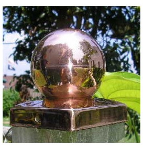(4-1/8 inch) FULL 4x4 Copper BALL Fence post cap
