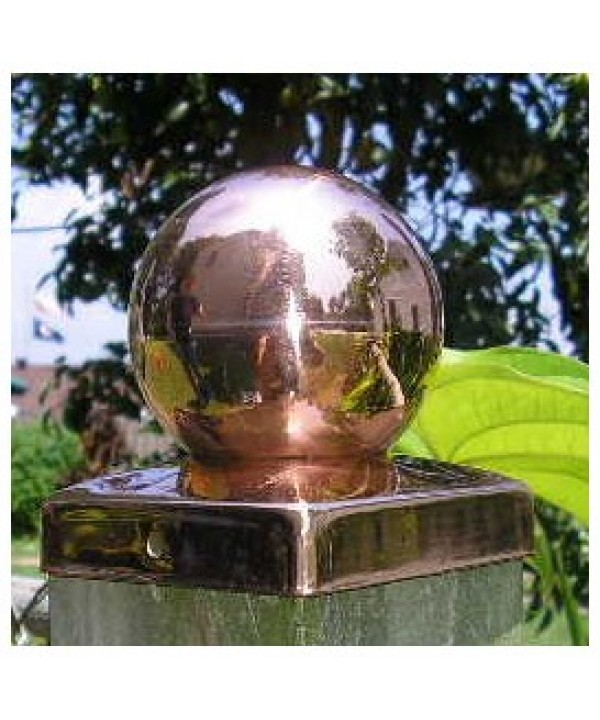 (3-5/8 inch) Nominal 4x4 Copper BALL Fence post cap