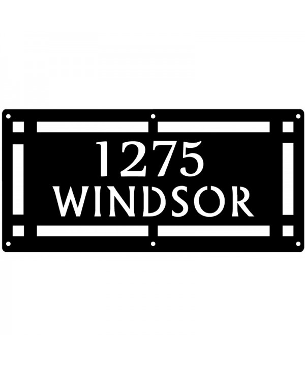 Copper Wall Plaque Address Sign
