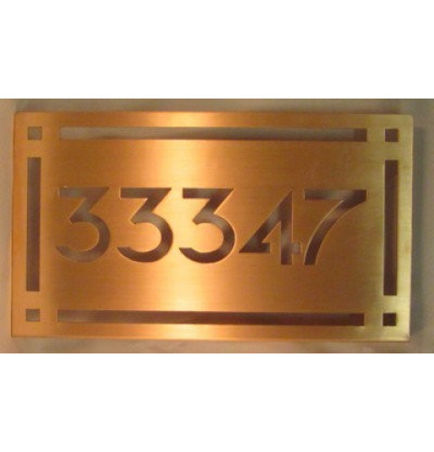 Copper Wall Plaque - Craftsman style Address Sign