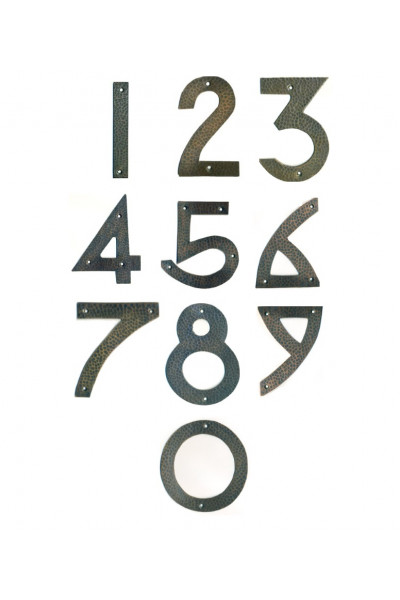 Arts & Craft Copper House Numbers - 6 inches