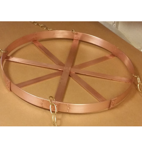 Hanging Round Copper Pot Rack