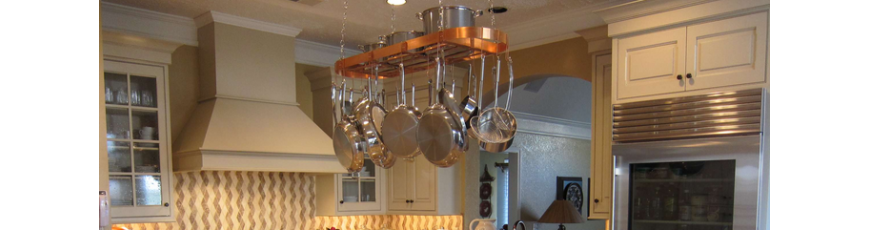 Hanging Copper Pot Racks