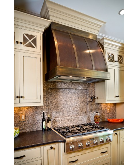 Barrel Copper Range Hood