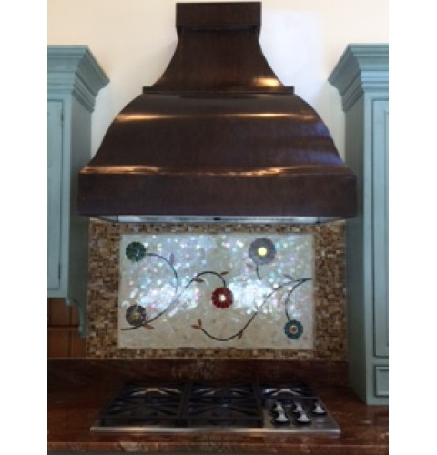 Triple Arch Bell Copper Range Hood