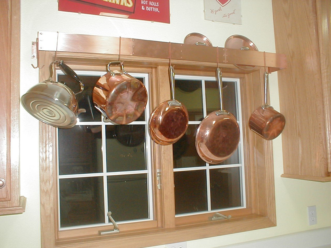 Window Wall Mount Pot Rack