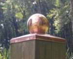 6x6 Copper Fence Cap - ball