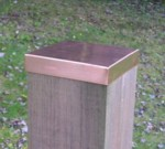 Copper Fence Post Cap - Flat