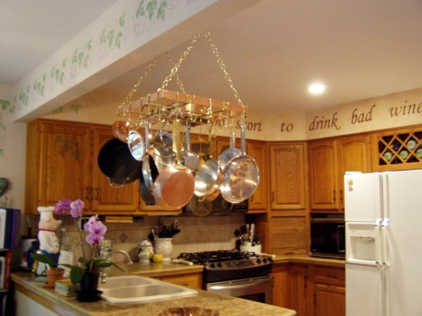 Hanging Pot Racks - handcrafted in copper & brass by The ...
