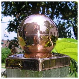 Copper Fence Post Cap - Ball