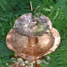 Solid copper fairy fountain