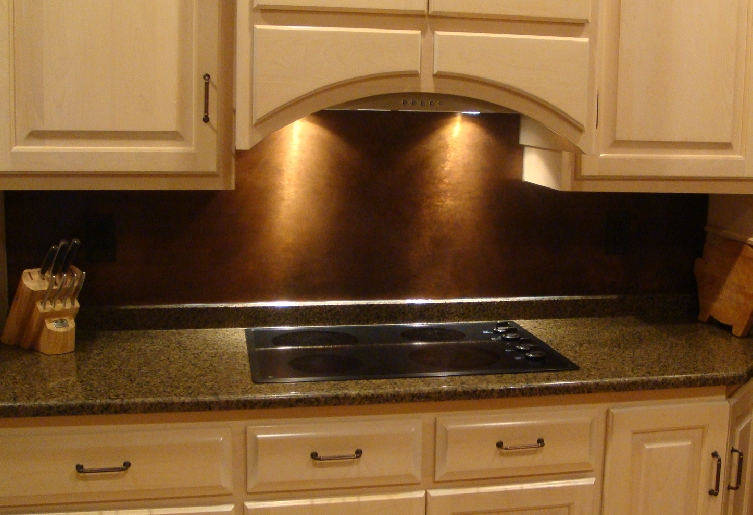 Contact us to order. Sample pricing for a copper backsplash is below.