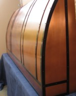 Oversized copper range hood