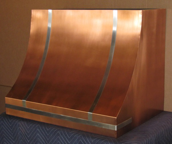 French Country Copper Range Hood Handcrafted In Usa By