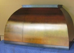 Copper Range Hood, Dome design