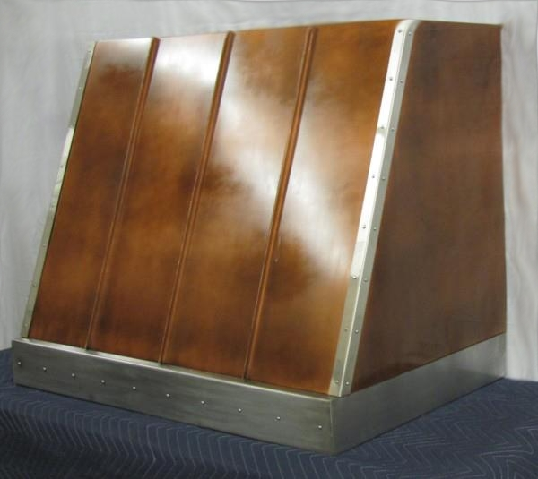 copper range hood with stainless steel trim - Copper Range Hoods