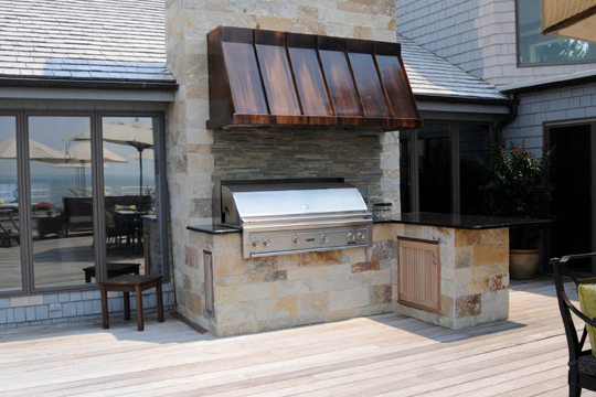 Siena Copper Range Hood - handcrafted in USA by The Metal Peddler
