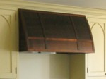 Barrel Copper range hood, American made, custom