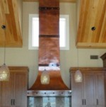 Tallest Copper Range Hood, 11 1/2ft