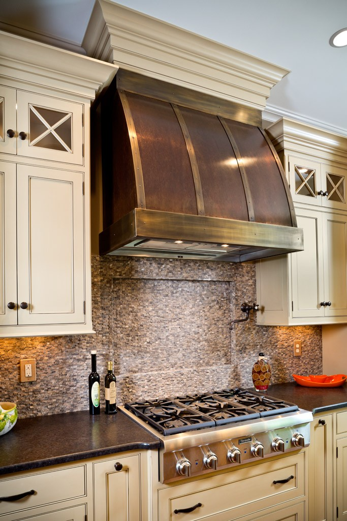 Barrel Copper Range Hood Handcrafted In Usa By The Metal