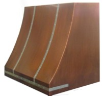 Copper range hood, made in USA