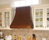 Crescent Copper Range Hood - custom build. Made in USA