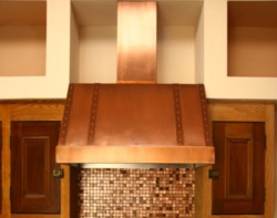 Copper range hood by The Metal Peddler, USA