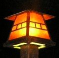 Custom copper lamp post