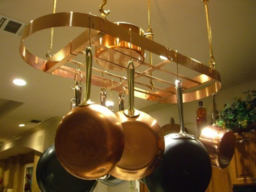 Copper Pot Rack Easy Home Decorating Ideas