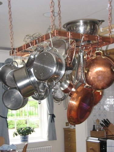 Pro Hanging Pot Racks Handcrafted In Copper By The Metal Peddler