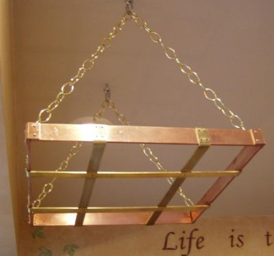 Hanging Pot Racks Handcrafted In Copper Brass By The Metal Peddler
