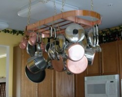 Oval Copper Pot Rack - real copper up to 38x16 inches - made in USA