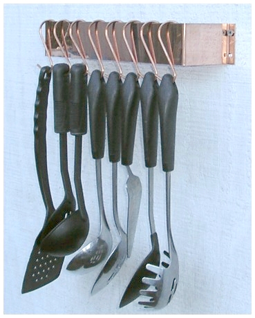 Solid Copper Utensil Rack