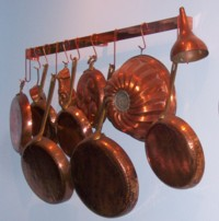 Copper Pot Rack - Wall Mounted