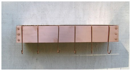 Deep Wall Mounted Pot Rack - Copper